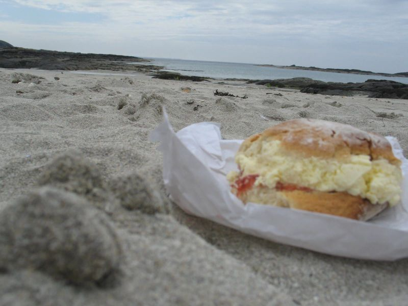 Scone on beach